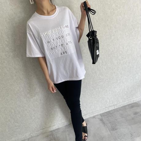 エンボスロゴTシャツ(2color)