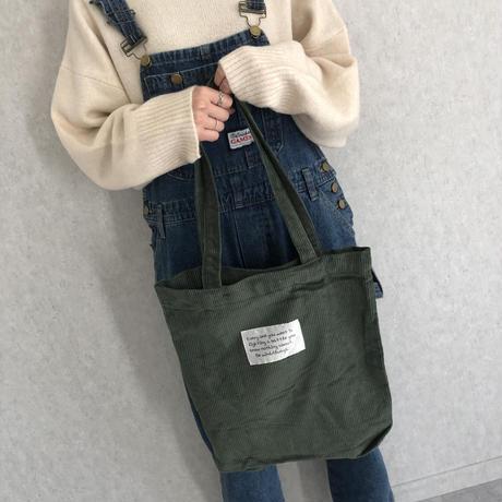 コーデュロイトートバッグ(3color)【クリックポスト対象商品】