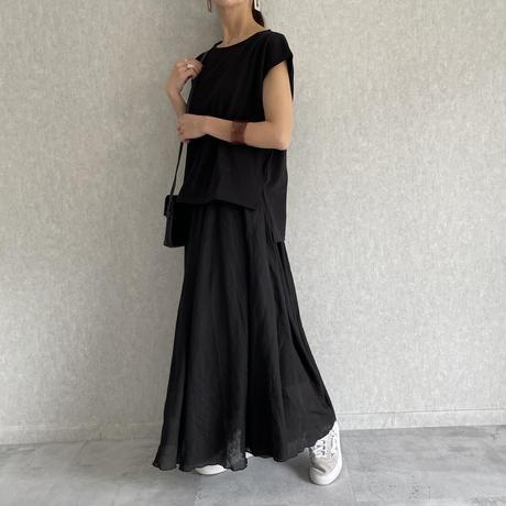 ガーゼ素材ふんわりロングスカート (2color)