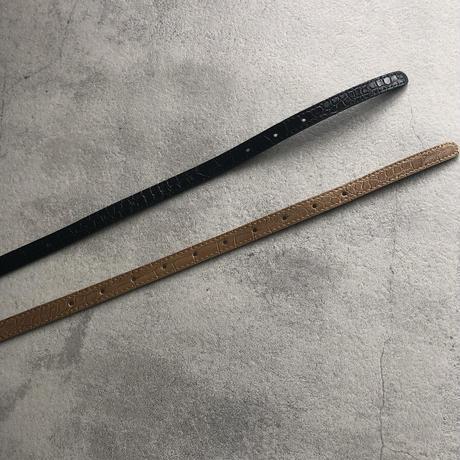 シンプルクロコ型押し細ベルト(2color)