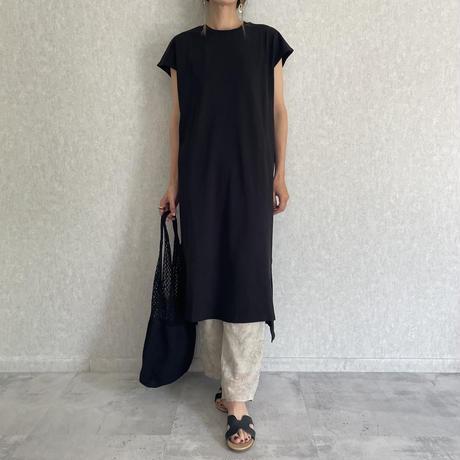 裾スリットフレンチコットンワンピース(2color)