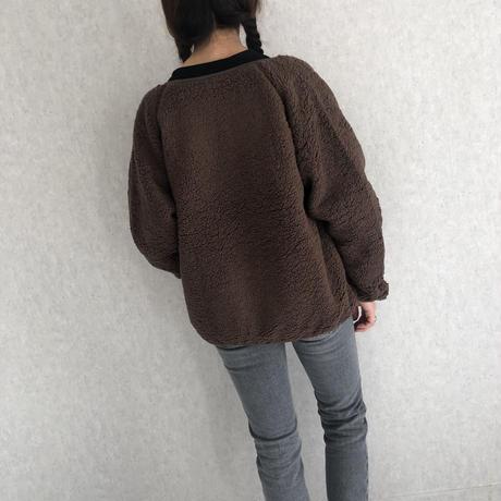 心地いい柔らかな肌触り!ボアノーカラーショートジャケット(2color)
