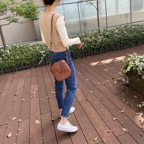 楽な履き心地!サイドスリットスキニーパンツ (3color/2size)