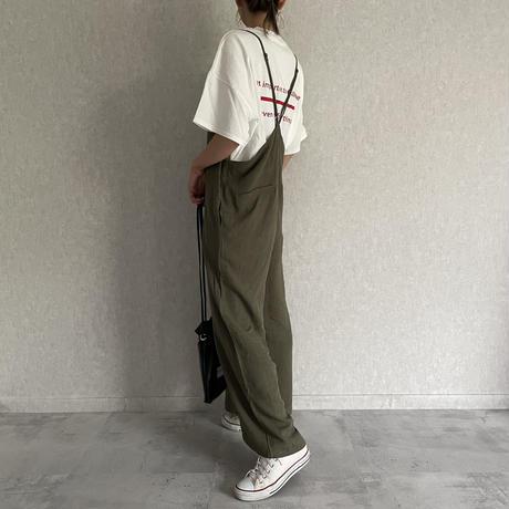 【期間限定!4290円→3861円】レーヨン×麻シンプルキャミサロペット(2color)