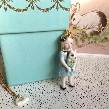 【再/再入荷】ナターシャ・アリスブルーゴールドネックレス/会員特典/『プレゼント30代女性』