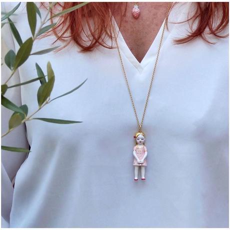 ナターシャプラノ/人形ネックレス アガトピンク「プレゼント」