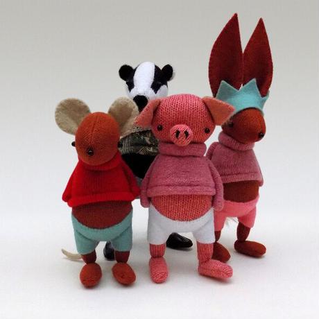 SKIPPITY HOPP/英国ハンドメイド・とら人形