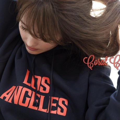YouthFUL SURF®︎ × Coral Cruiser .  Los Angels  Hooded Sweatshirts【Navy】