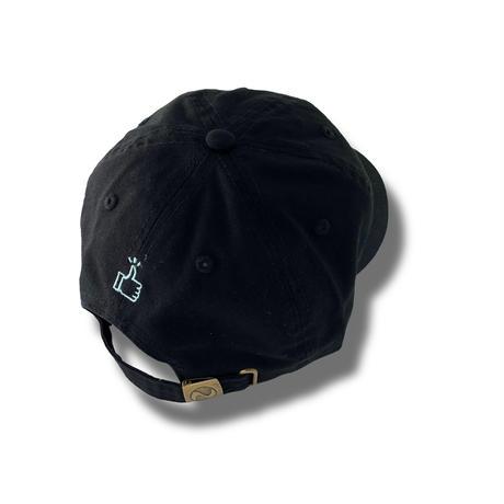 50 (SO GOOD) WASHABLE CAP  浅型   Black × Emerald Green