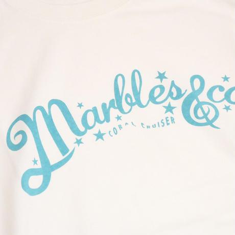 Marbles × Coral Cruiser .   Neo Logo T-shirt【White】