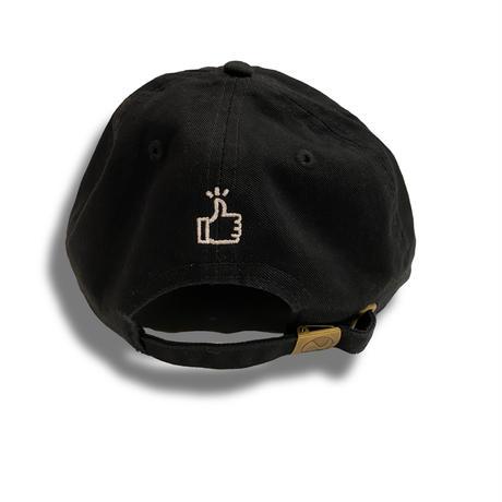 50 (SO GOOD) WASHABLE CAP  浅型   Black × White