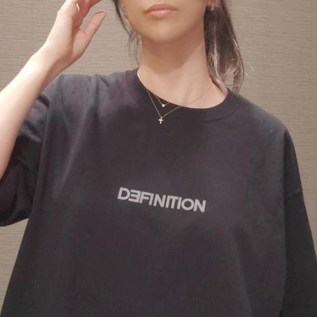 DEFINITION T-shirt (Black × Dark gray / Sliver glitter)