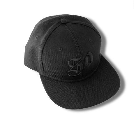 50 (SO GOOD) SNAPBACK CAP     Black × Black