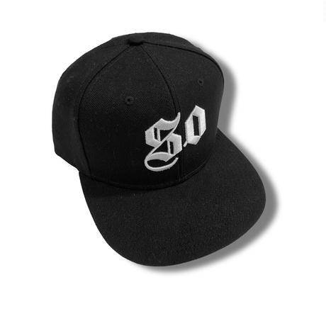 50 (SO GOOD) SNAPBACK CAP     Black × White