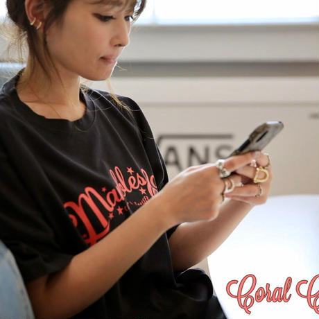 Marbles × Coral Cruiser .   Neo Logo T-shirt【Black】