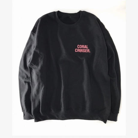 SURT  ×  Coral Cruiser .   Crewneck Sweatshirt【Black】
