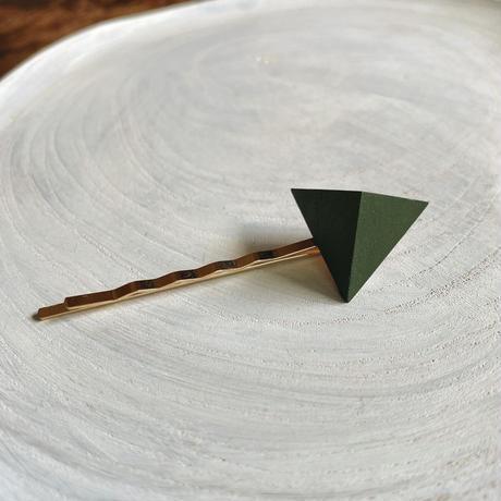 三角形ヘアピン フォレストグリーン