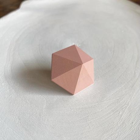 六角形ピアス ピンク