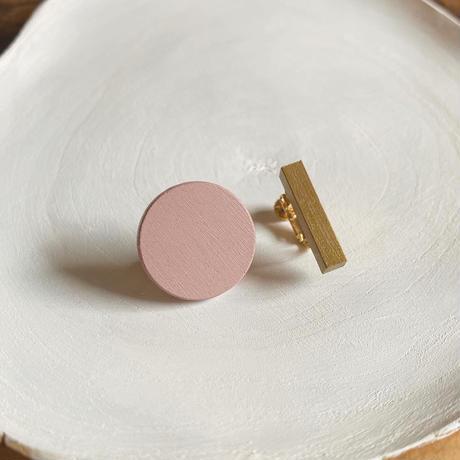 サークル&バーイヤリング(セット) ピンク/ゴールド
