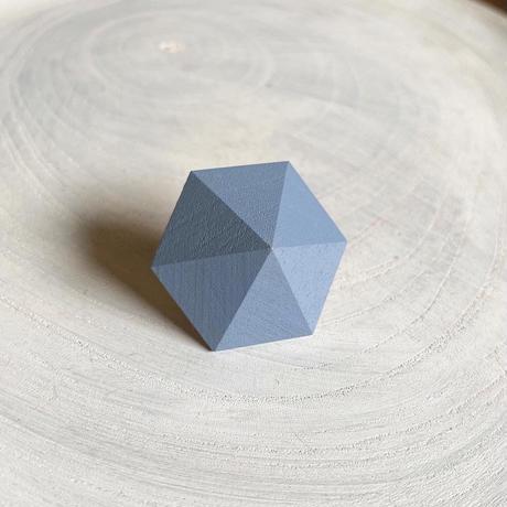 六角形ピアス ブルー