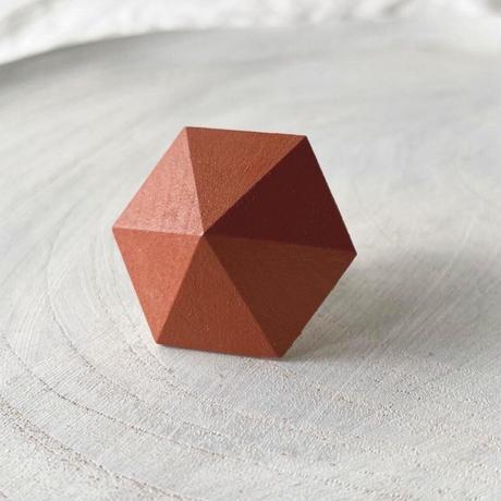 六角形イヤリング オレンジ