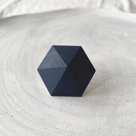六角形ピアス ネイビー