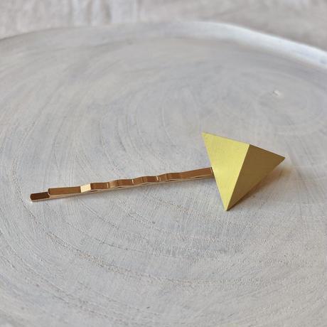 三角形ヘアピン レモンイエロー