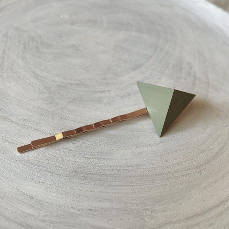 三角形ヘアピン エッグシェルグリーン
