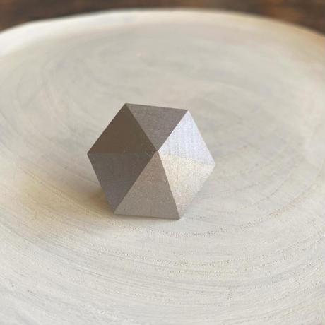 六角形イヤリング シルバー