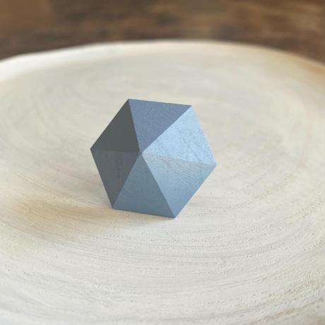 六角形イヤリング ブルー