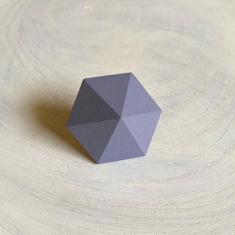 六角形イヤリング スモーキーパープル
