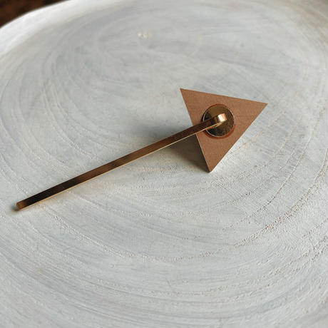 三角形ヘアピン ホワイト