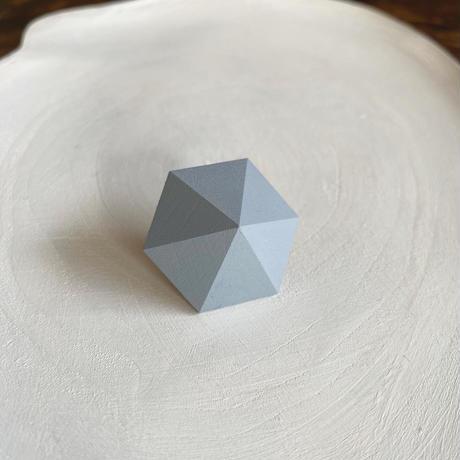 六角形ピアス アイスブルー