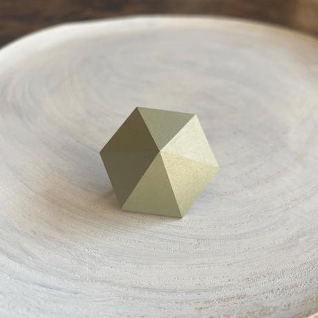 六角形イヤリング モス