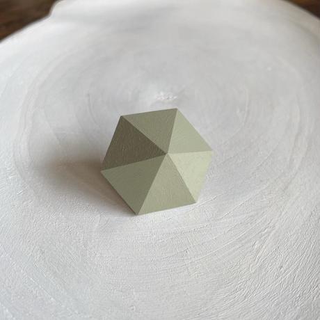 六角形ピアス パールグリーン