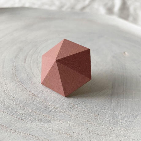 六角形ピアス ローズピンク