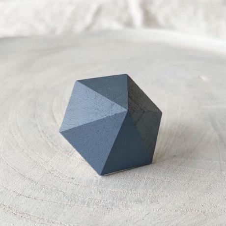 六角形イヤリング スモークブルー