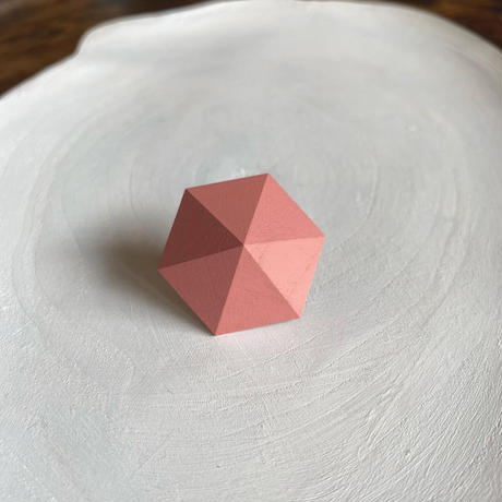 六角形イヤリング ストロベリーアイス