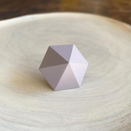 六角形ピアス ラベンダー