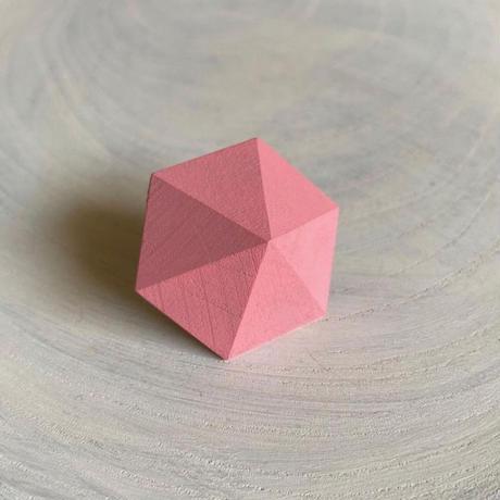 六角形イヤリング コスモス