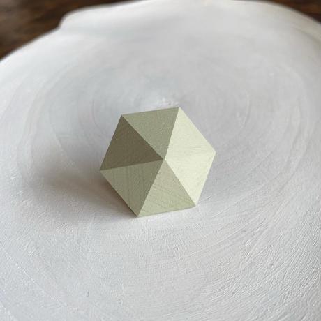 六角形イヤリング ミストグリーン