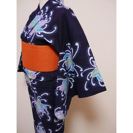 菊文の浴衣