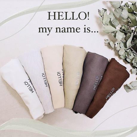 My name  tshirt ※必ずご購入時に備考欄にお名前ご明記下さい※
