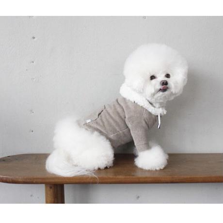 THERESTOFLIFE BOA zip hoodie gray beige