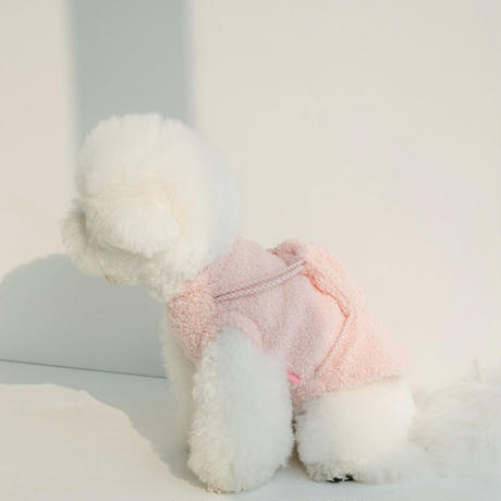 saltyhearty  リュックボアトップス pink