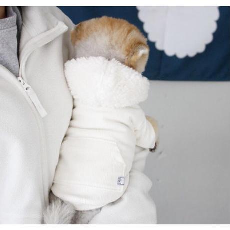 THERESTOFLIFE BOA zip hoodie White