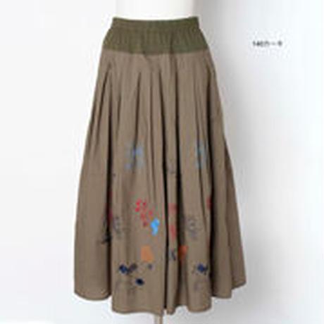モチーフ刺繍 フレアスカート 5205250E