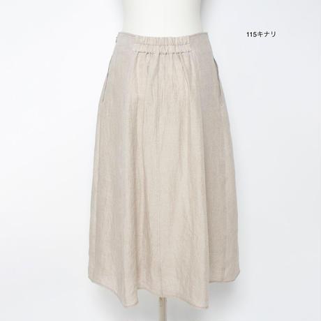 麻のストレートスカート(ベルギーリネン)5206038E