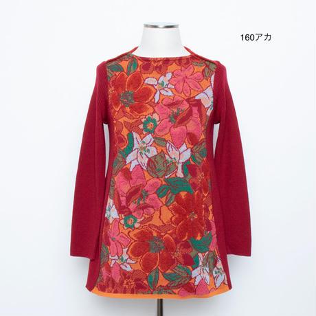 花柄パイルジャガード  ニットチュニック 5204310A