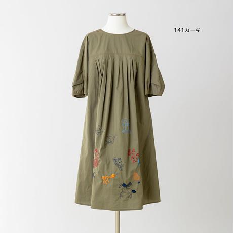 モチーフ刺繍 ワンピース 5205252G